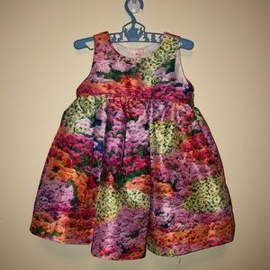 12 month baby dress formal floral girl pink green